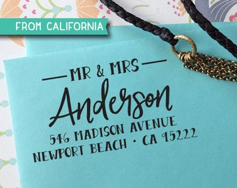CUSTOM ADDRESS STAMP, Rubber Stamp, Self Inking Stamp, Return Address Stamp, Personalized Stamp, rsvp Address Stamp, Wedding Stamp, Stamp318