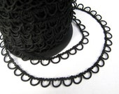 Black Bridal Button Looping Trim - Ready to use Wedding Button Holes