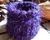 fiber vessel bowl Shaggy Purple
