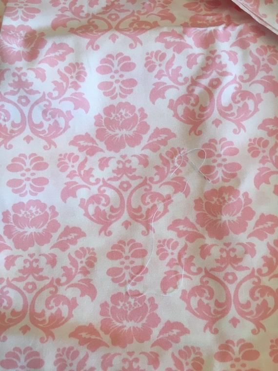 Destash White and pink damask fabric