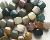 Ocean Jasper Puff Cushion Beads