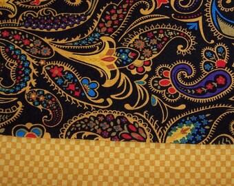 Luxury pillowcase elegant paisley and checks