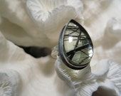 Beautiful Rutilated Quartz Ring Size 6.75