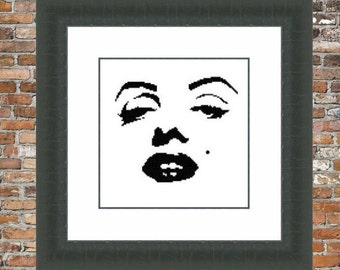 Marilyn Counted Cross Stitch Pattern