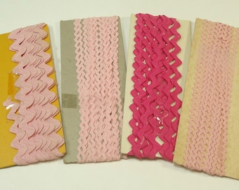 Vintage Pink Ric Rac Ribbon And Trim Collection