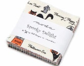 SALE 2 Packs MINI charm pack SPOOKY Delights Moda Fabric by Bunny Hill Designs