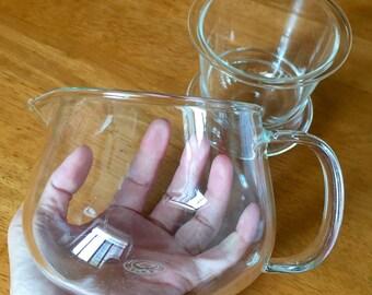 Big mouth glass teapot