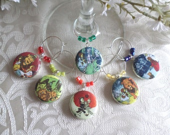 Wonderful Wizard of Oz Wine Charms - Set of 6
