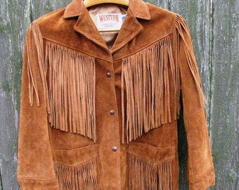 Valentines Day Sale Leather Fringe Jacket, Size, Authentic Made in the USA, Western by Schott, Texas Livestock Show & Rodeo Wear