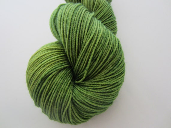 Summer Grass - Dyed to Order - Hand Dyed - Merino Wool Yarn - Fingering Weight