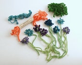 Vintage Chenille Flowers Supplies