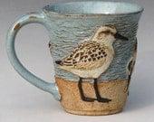 RESERVED FOR PAM--Birds & Beach Mug #2