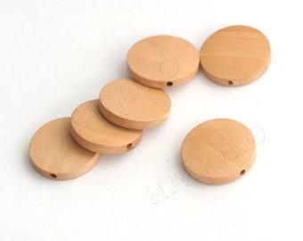 10pcs round wooden beads 25mm W095