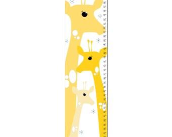Growth Chart, Giraffe Growth Chart, Yellow Giraffe Growth Chart, Custom Growth Chart, Custom Yellow Growth Chart, Canvas Growth Chart