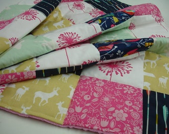 A Woodsy Spring Medley 3 Piece Baby Crib Bedding Set MADE TO ORDER