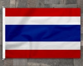 100% Cotton, Stitched Design, Flag of Thailand, Made in USA