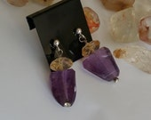 CUSTOM LISTING  for TONI Amethyst Moon earrings
