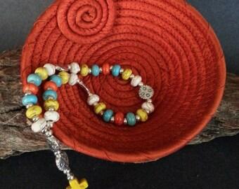 De Colores rosary, Anglican Rosary & Silk Basket
