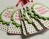 Merry Christmas gift tags set of 6