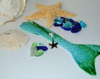 Teal Mermaid Tail Wall Art