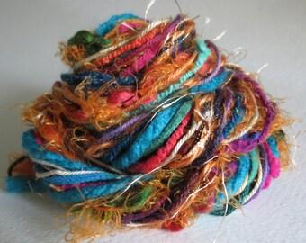 Fibers Lot - Craft Supplies - Dreamcatcher - Trending Crafts - Knitting - Crochet - Yarn Lot -Altered Art - Pocket Letter Supplies