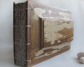 Landscape album Distressed old wooden covers