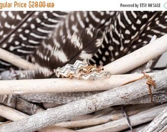 40% Off Sale Bronze Birds in Flight Ring | Nature Inspired | Bronze Stacking Ring| Zig Zag Ring