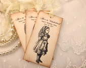 Alice in Wonderland Tags Personalized Tags Set of 10