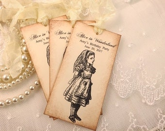 Alice in Wonderland Tags Personalized Tags