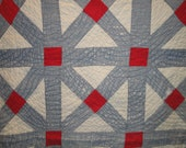 Cutter Quilt Piece | Old Quilt Piece | Antique Quilt Piece | Vintage Quilt Piece |  31 x 45
