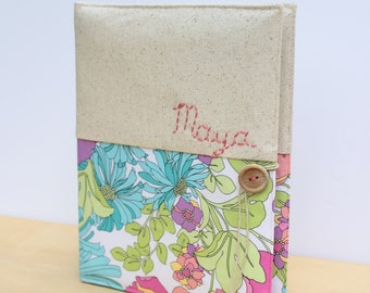 custom photo album embroidered personalized holds 208 photos Amy Butler fabric