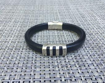 Now on Sale - Men's Leather Bracelet