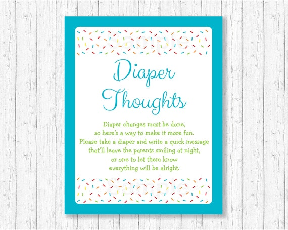 sprinkle diaper thoughts game blue baby sprinkle baby boy
