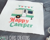 Printed Copy of Happy Camper Counted Cross Stitch Pattern