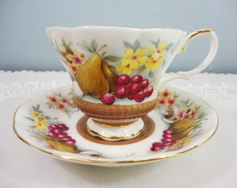 """Royal Albert """"Devon"""" Country Fayre Series Bone China Teacup and Saucer"""
