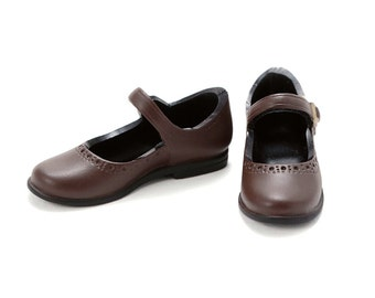 Mary Jane Flats shoes for Ruruko / Momoko dolls - Dark Brown