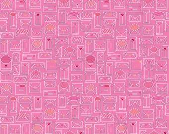 SALE Lovebugs Envelope Pink - 1/2 Yard