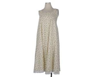 SALE Vintage 70s Dress - 70s Smock Dress - 70s  Babydoll Dress - Black Cream - Ditsy Print - Heart Print - 70s Maternity Dress - 70s Sun Dre