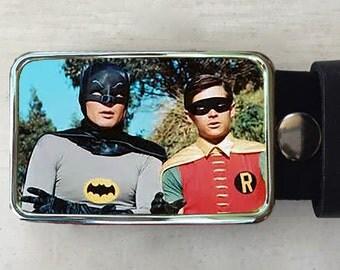 Batman and Robin.  Belt buckle for men or women.  Vintage.  Dynamic Duo.  Super hero.