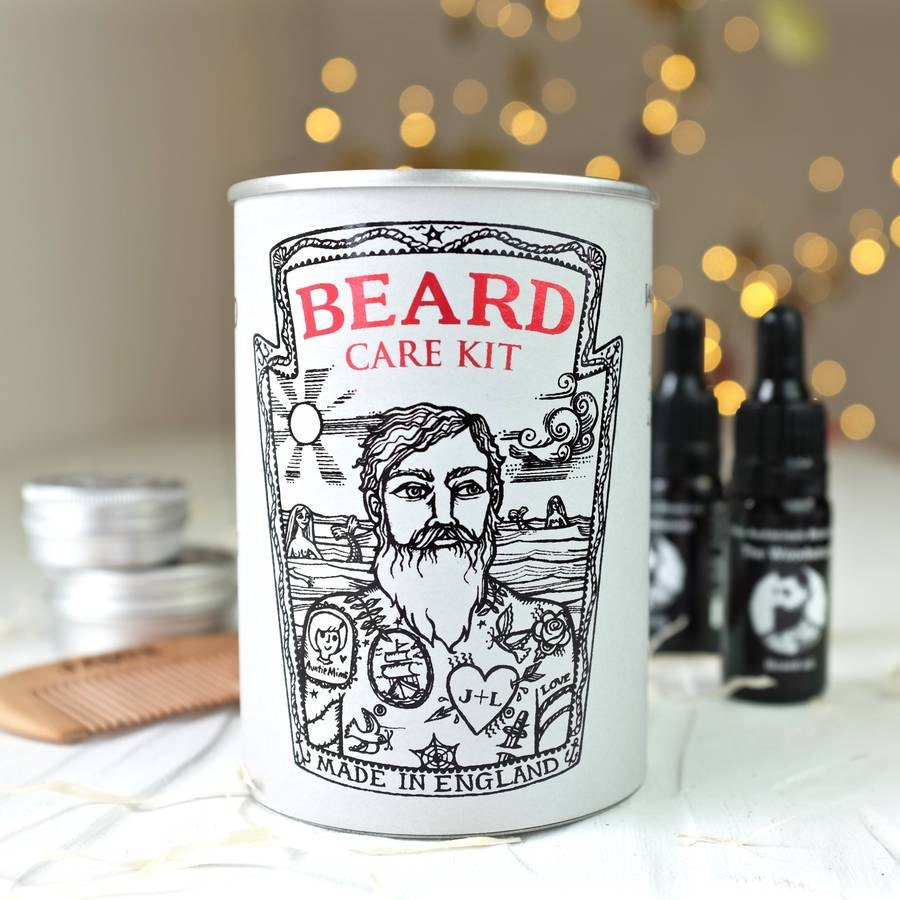 beard care kit in a tin can personalised beard kit. Black Bedroom Furniture Sets. Home Design Ideas