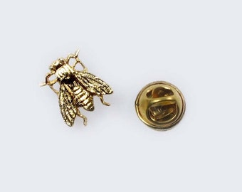 Buzzing Bee or Fly Tie Tack Pin Flair