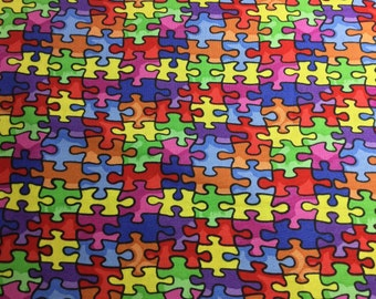 Autism Awareness Fabric...Choose your length