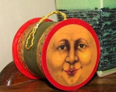 Moon Sun Face Christmas Candy Container Ornament