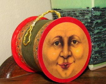 Moon Sun Face Christmas Ornament Candy Container