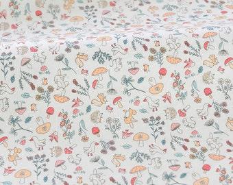 4190 - Animals Cotton Jersey Knit Fabric - 70 Inch (Width) x 1/2 Yard (Length)