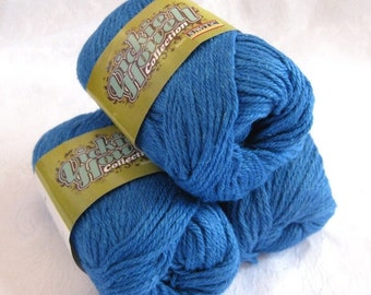 50% off - Royal blue wool blend worsted weight yarn, felting yarn, soy silk hemp blend yarn, SWTC Rock Dave