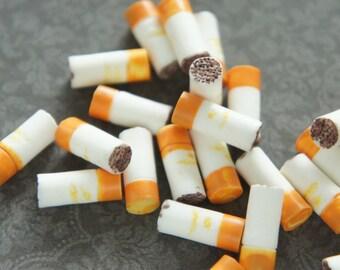 8 pcs Cigarette Miniature/Cabochon (7mmH16mm) DR399