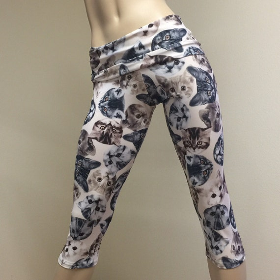 Items Similar To Hot Yoga Fitness Capri Pants Cats Fold