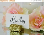 Place Card Holders + Gold Glitter Place Card Holders - Set of 100