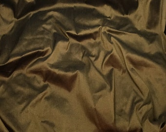 CHOCOLATE BROWN Silk DUPIONI Fabric - fat 1/4